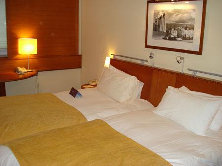 """El lujoso concepto de """"gastos pagados"""": Hotel Sofitel del aeropuerto de Atenas."""