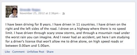 carnet conducir canadá