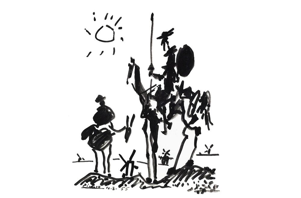 Quijote por Picasso