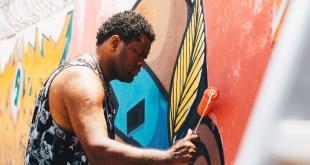 Grafiteiro FML em ação