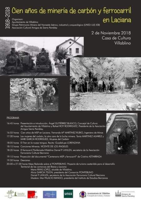 Cien años de minería de carbón y ferrocarril en Laciana
