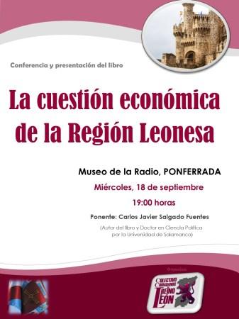 Cartel Ponferrada conferencia region leonesa