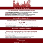 Cartel ciclo de conferencias