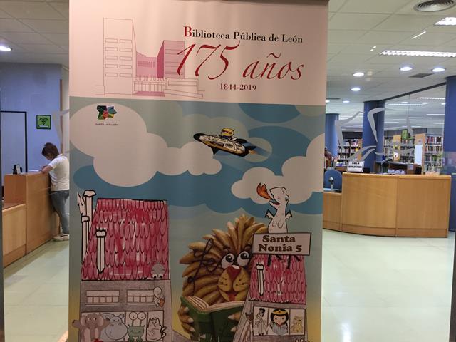 del 175º aniversario de la fundación de la Biblioteca Pública de León