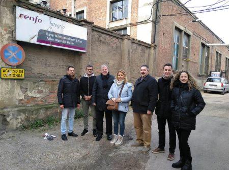 cierre de los talleres de La Sal y los recortes en las obras de ADIF en León y San Andrés