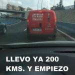 llevo 200 kms