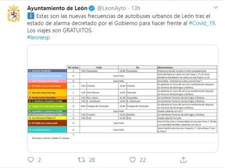 twitter ayuntamiento de león
