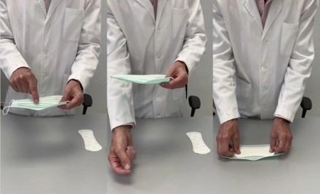 truco de pegar un salvaslip en el interior de las mascarillas para reforzarlas