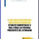 cuarentena entrada en España