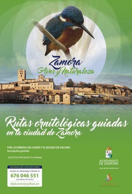 """rutas de observación de aves """"Zamora, Aves y Naturaleza"""