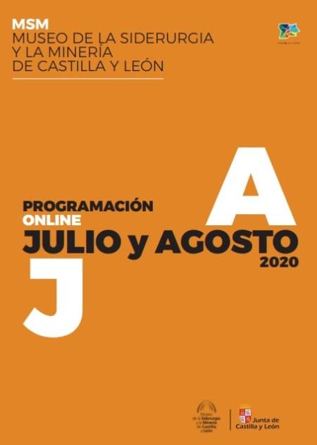 programación julio y agosto museo mineria de sabero 2020