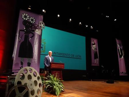 clausura de la séptima edición del Festival de Cine y Televisión Reino de León.
