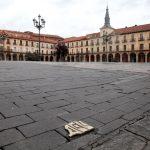 El símbolo de la Red de Juderías en la Plaza Mayor