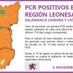 PCR REGIÓN LEONESA SALAMANCA, ZAMORA Y LEÓN A 8 DE NOVIEMBRE DE 2020