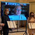 Los escritores Crisanto Pérez y Luis Ramos recogen los Premios de Novela y Poesía Ciudad de Salamanca 2020