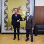 El consejero de Cultura y Turismo, Javier Ortega Álvarez, ha visitado hoy Astorga