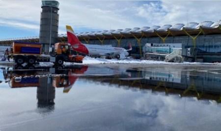 aeropuerto de barajas temporal filomena