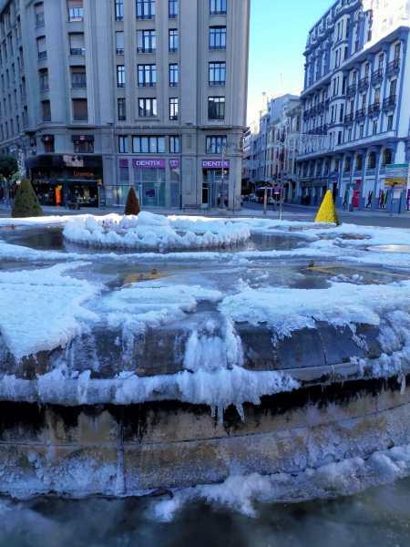 fuente santo domingo nevada