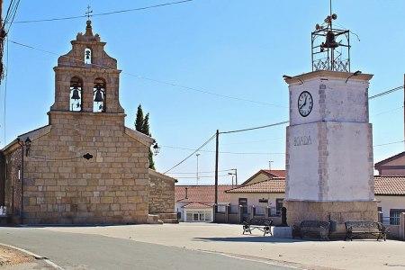 Iglesia de Nuestra Señora_de_la_Asunción_y_Torre_del_Reloj_en_Boada