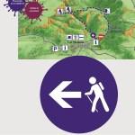 Indicación ruta Las Valinas
