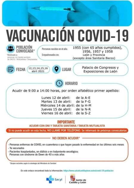 vacunacion covid león 10 abril