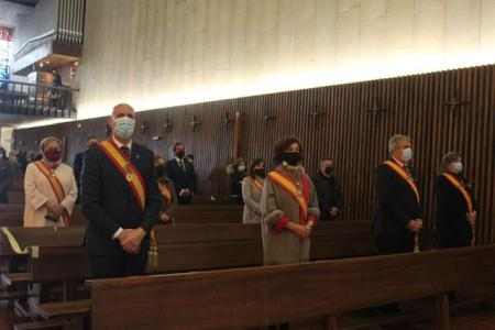 Ofrenda del alcalde a la Virgen del Camino
