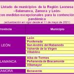 listado municipios región leonesa medidas covid 19