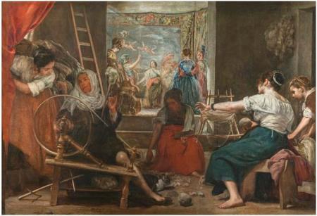 El Museo Nacional del Prado restituye la visión original de Las hilanderas de Velázquez