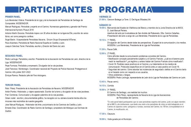 Cumbre de Villafranca del Bierzo para reunir a periodistas del Camino de Santiago