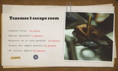escape room la candamia