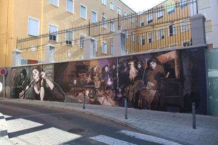 Este mural se encuentra situado en el entorno del barrio de La Lana, el cual ya cuenta con varias obras relacionadas con las tradiciones populares de la provincia de Zamora.