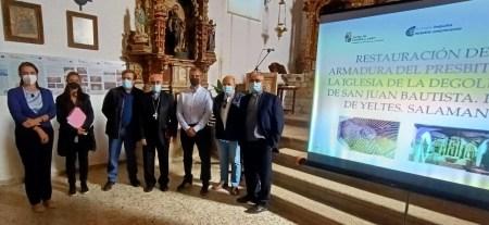 Puebla de Yeltes recibe el artesonado de su iglesia parroquial