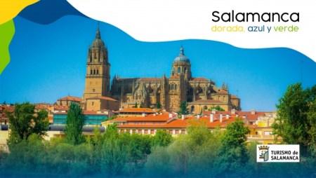 Salamanca dorada, azul y verde