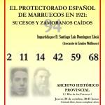 """conferencia """"El Protectorado Español de Marruecos en 1921, sucesos y zamoranos caídos"""""""