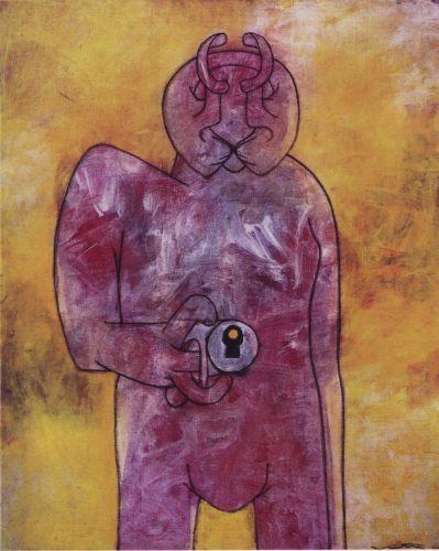 Le Poëte,1945, Huile sur toile, 95 x 77 cm,  Matta, Collection Ramuntcho Matta ¢Ramuntcho Matta-ADAGP Paris 2013