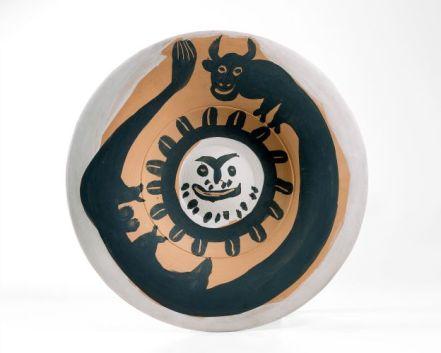 Picasso taureau et soleil barbu 1959