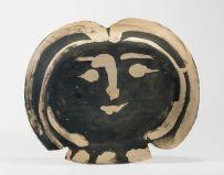 Picasso tete de femme verso