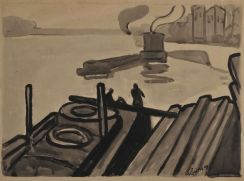 Albert Gleizes, Paris, les quais, 1908