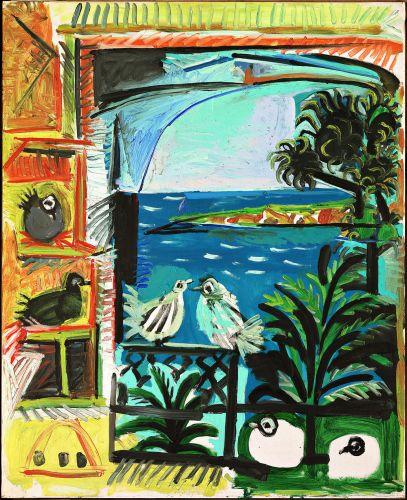 Pablo Picasso, Les pigeons, Cannes, 1957. Huile sur toile, 100 x 80 cm Museu Picasso de Barcelona © Museu Picasso, Barcelona. Gasull fotografia © Succession Picasso 2013