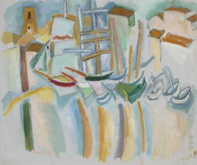 Raoul Dufy, Bateaux et barques à Marseille, 1907