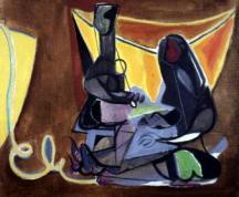 Édouard Pignon, Les remailleuses de Collioure, 1945