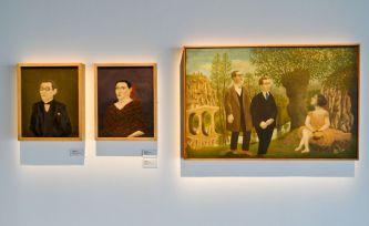 André Bauchant, Le Corbusier, sa femme Yvonne et son cousin et associé Pierre Jeanneret