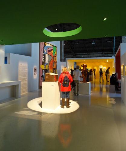 Vue de l'exposition Le Corbusier et la question du brutalisme - La Méditerranée au-delà de Marseille