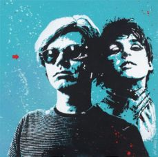Jef Aerosol, Andy Warhol et Edie Sedgwick, 60 x 60 cm