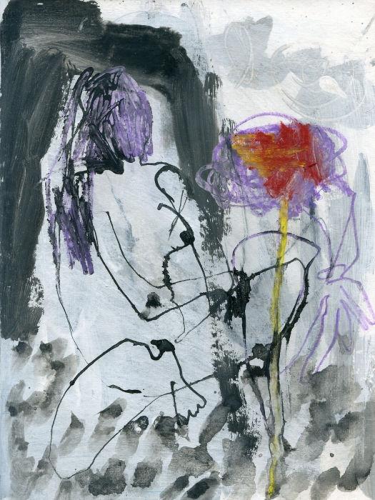 Cloé Paty, Dessin extrait du livre d'artiste Ma promenade, 2009