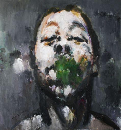 Liu Zhengyong. Selfportrait-Documenta Kassel, 2013