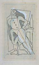 Juan Gris, Arlequin, 1920 col