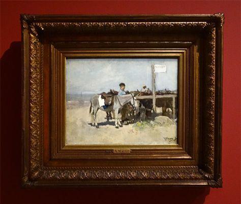 Anton Mauve, Anes sur la plage, 1876. Huile sur toile. 37 x 48 cm. Mesdag Collectie, La Haye.