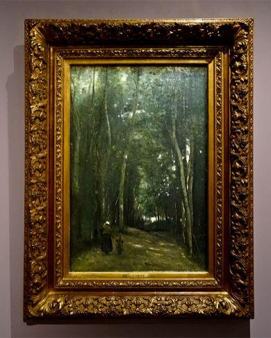 Camille Corot, Un chemein dans les bois de Saint-Cloud, 1862