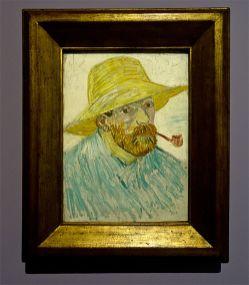 Vincent Van Gogh, Autoportrait à la pipe et au chapeau de paille, 1887